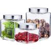 3件套玻璃瓶大号储存罐带盖杂粮储物罐密封瓶零食罐奶粉罐茶叶罐 24.9元(需用券)