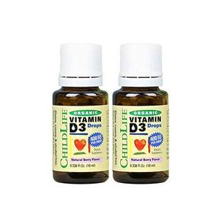 Childlife 童年时光 婴幼儿童有机维生素VD3滴剂 400IU 180滴/瓶 2瓶装