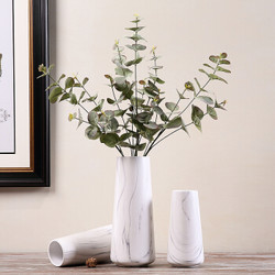 Hoatai Ceramic 华达泰陶瓷 花瓶摆件 石纹直筒款(单花瓶)大号