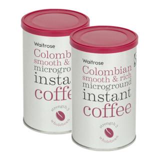 Waitrose 维特罗斯 哥伦比亚微粒烘焙速溶咖啡 100g*2罐