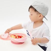 淘宝心选 儿童吸盘碗 带叉子勺子