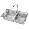 VATTI 华帝 H-A2012(77)-C.1 厨房304不锈钢水槽双槽+标准龙头套装 399元(需用券)