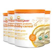 HappyBaby 禧贝 婴幼儿有机混合谷物米粉 198g 4罐装