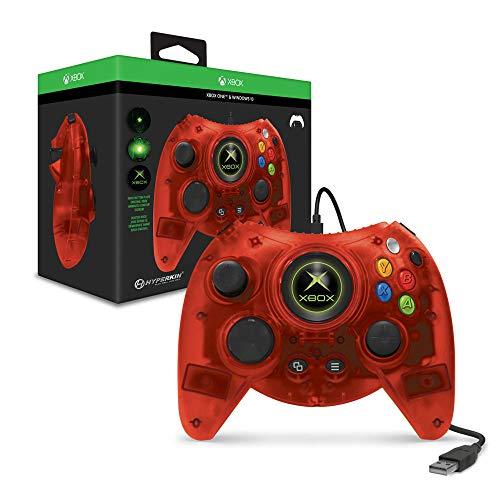 Hyperkin Duke 初代Xbox复刻 游戏手柄 (透明红)