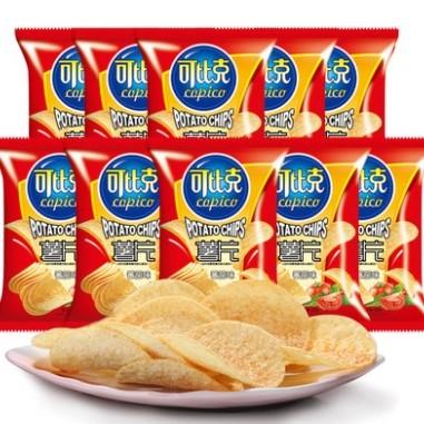 可比克 薯片 番茄味 20g*10包 *13件 +凑单品