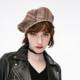 ONLY 118486504 女士丝绒系带装饰格纹含羊毛平顶帽