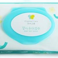 初然之爱婴儿手口湿巾80抽*6包(带盖) *2件