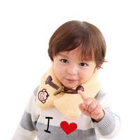 hugmii 儿童素色牛角扣围巾 男女童保暖围巾 适合2-10岁