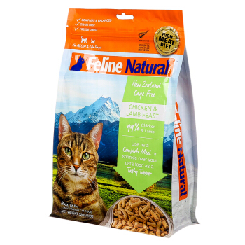 K9 Natural 宠物猫粮 冻干鸡肉羊肉 320g