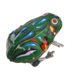 经典发条玩具 复古上链铁皮青蛙