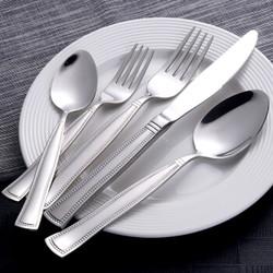 Buyer Star 304不锈钢牛排刀叉勺甜品勺 五件套