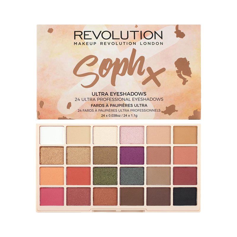 Make up revolution Sophx合作款 24色枫叶南瓜眼影盘 26.4g