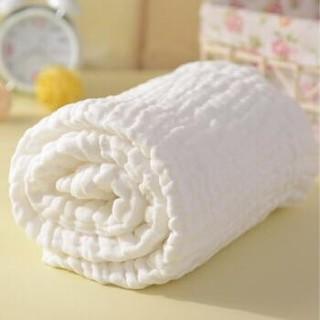 贝吻 婴儿浴巾 6层纱布 白色115CM*120CM