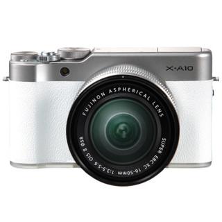 180度翻转 FUJIFILM 富士 X-A10(16-50mm f/3.5-5.6)APS-C画幅无反相机套机 白