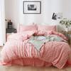 A.Banana 北欧良品水洗棉四件套 床单被罩枕套套装 精梳新疆长绒棉 床上用品 渐变格粉 1.2米/4英尺床单款 249元