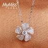 Mymiss 复古花朵925银锁骨链 短款 99元