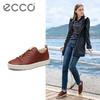 ECCO爱步2018新款运动休闲透气板鞋纯色简约系带女鞋 柔酷440793 1568元