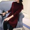 秋冬季韩版女装针织衫加厚外套中长款打底衫半高领宽松套头毛衣裙 39元(需用券)