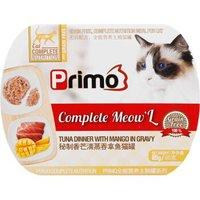 泰国进口 不然呢(Primo)猫罐头猫咪餐盒成猫幼猫湿粮零食 85g秘制香芒清蒸吞拿鱼猫餐盒10655 *31件