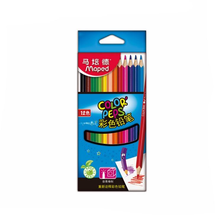 Maped 马培德 CH183212 不易断彩色铅笔 12色
