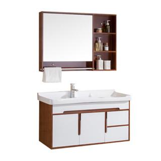 荣阳卫浴 6038-1 实木浴室柜组合 0.9米