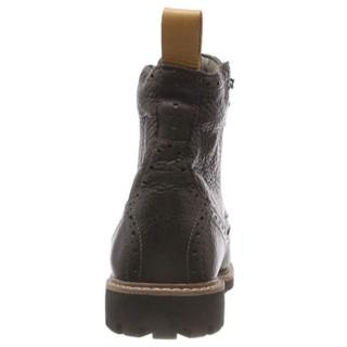 Clarks Batcombe Lord 男士布洛克短靴  黑色  40码