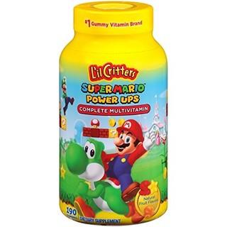 L'il Critters 丽贵小熊糖 超级马里奥兄弟 多种维生素软糖, 190 粒