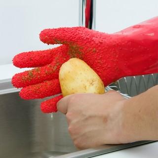 HAGGIS 家用清洁手套 刮鱼鳞削皮手套 一双装