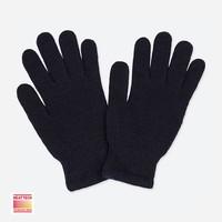 UNIQLO 优衣库 409257 儿童HEATTECH针织手套 (18cm、男童、黑色)