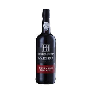 小编精选、历史低价 : HENERIQUES & HENRIQUES 亨瑞克 MEDIUM RICH 马德拉葡萄酒 750ml