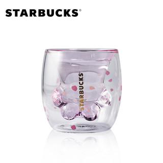 STARBUCKS 星巴克 粉色猫爪双层玻璃杯 (171ml)