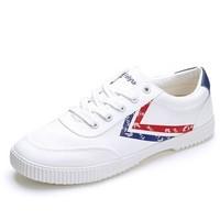 FEI YUE 飞跃 8123 男士系带休闲鞋 白色 44