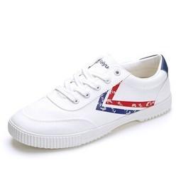 DaFuFeiyue 大孚飞跃 FEI YUE 飞跃 8123 男士系带休闲鞋 白色 44