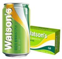 Watsons 屈臣氏 屈臣氏(Watsons)香草味苏打汽水 330ml*24罐 整箱装
