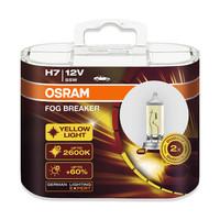 欧司朗雾行者 H7 黄光 汽车灯泡大灯灯泡近光灯远光灯卤素灯雾灯12V55W