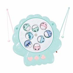 指玩奇特 宝宝钓鱼玩具 儿童套装磁性玩具 (旋转贝壳蓝, 精美版)