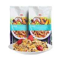 绝对值:ICA 50%坚果水果 燕麦片 750g*2袋