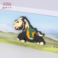 NATIONAL MUSEUM OF CHINA 中国国家博物馆 卡通动漫 三彩马 软胶冰箱贴 (7.3*5.4*0.6cm、彩色)