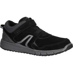 男士健走鞋HW 140搭扣款黑色真皮