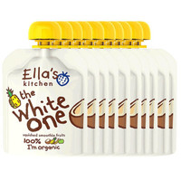 Ella's kitchen 艾拉厨房 有机水果果泥 白色果泥10袋装 *2件