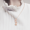 Pica Lela 心动时刻 镀18K玫瑰金 水晶项链