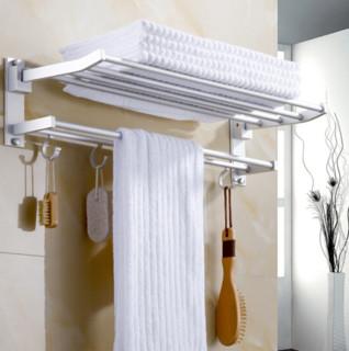如诺 浴室 置物架毛巾架 免打孔 60CM