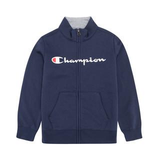 Champion 童装  宝宝 男童 胸前横向字母印花 无帽 立领全拉链 袋鼠兜 运动衫 外套3-14岁 *2件