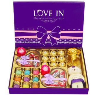 费列罗巧克力礼盒装万圣节糖果生日礼物送女友小孩亲人 *3件