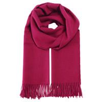 SOL ALPACA 女士枚红色秘鲁原产小羊驼毛大披肩 2003-01 RJ7747 70*200厘米