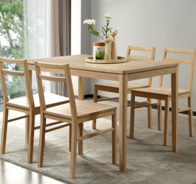 A家家具 Y209-120 餐桌椅组合 一桌四椅