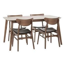 百伽 实木餐桌椅组合 一桌四椅