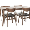 百伽 实木餐桌椅组合 一桌四椅 1299元