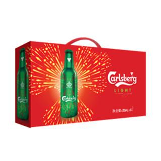 嘉士伯(Carlsberg)特醇啤酒皇冠铝瓶355ml*6瓶 烟花版组合装