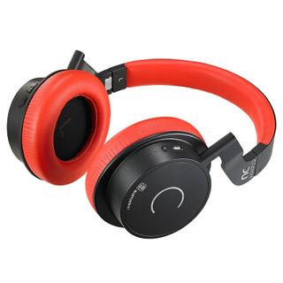 cleer DU Wireless 耳机 (通用、动圈、头戴式、32 Ohm、黑红色)